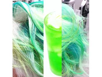 新緑なカラーが気づいたらクリームソーダ事件